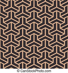 Vector damask seamless retro pattern background triangle geometry polygon cross frame chain line
