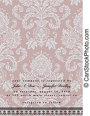 Vector Damask Wedding Frame