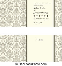 Vector Damask Wedding Frames. Easy to edit. Perfect for ...