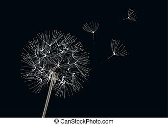 Music dandelion flower vector music dandelion flower with eps vector dandelion flower mightylinksfo Images
