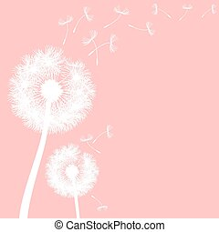 vector dandelion on a wind loses the integrity
