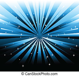 Vector dark background and blue ray