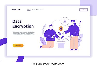 Vector banners about data technology  Information technology