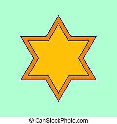 Vector David Star icon - Vector david star symbol for simple...
