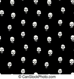 Vector day of the dead shugar skull pattern.