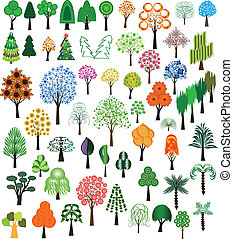 vector, de, árboles