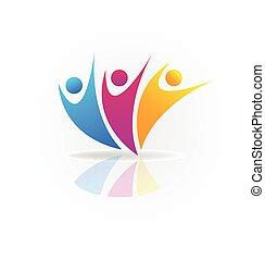 vector, de, gente, social, medios, logotipo