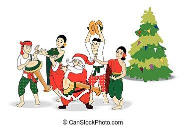 cerca tailandés baile