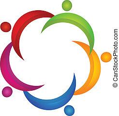 vector, de, unionteam, logotipo