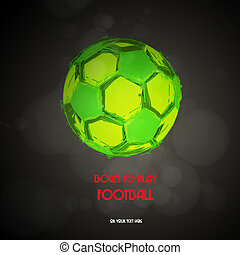 vector, de voetbal van het voetbal, bal