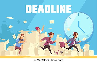 vector, deadline, illustratie