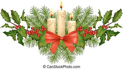 vector, decoraciones de navidad