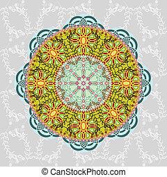 vector, decoratief, ab, pattern., ronde