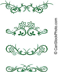 Vector decorations isolated on white background