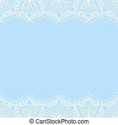 vector decorative border from white snowflakes on blue background greeting invitation card for christmas