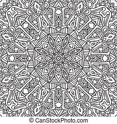 vector decorative ethnic sketchy contour line art