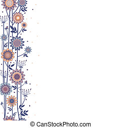 vector decorative flowers fond - vector background with...