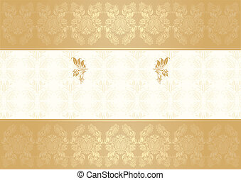 vector decorative frame gold