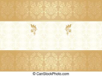vector decorative frame gold