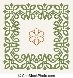 Vector decorative frame in the Celtic style