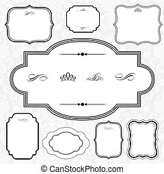 Vector Decorative Frame Set