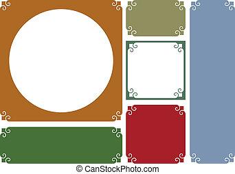 Vector decorative frames and backgr