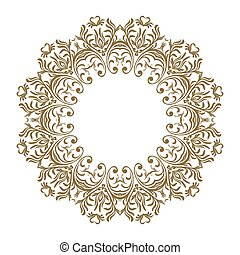 Vector decorative line art frames for design template. Elegant element for design, place for text. Golden outline floral border. Lace illustration for invitations and greeting cards