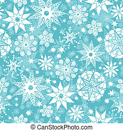 Decorative Snowflake Frost Seamless Pattern Background -...