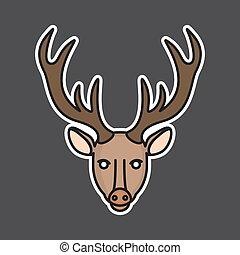 Vector deer head mascot