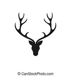 Vector Deer Head - Vector Illustration of a Deer Head