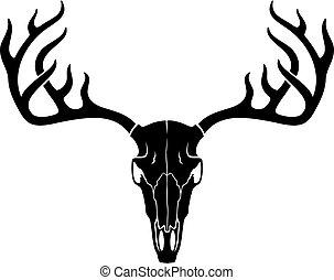 vector deer skull with horns
