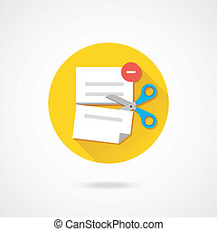 Vector Delete Document Icon