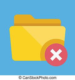 Vector Delete Folder Icon
