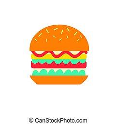 Vector delicious burger icon
