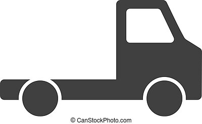 Vector Delivery Car Chassi Flat Icon Symbol