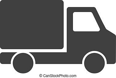Vector Delivery Car Flat Icon Symbol