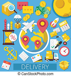 Vector Delivery Flat Illustration