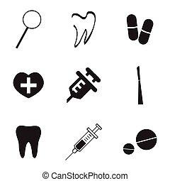 Vector dental  icons set