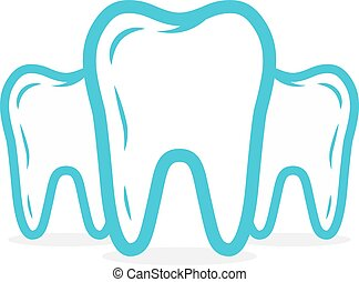 Vector dental or tooth logo. Tooth vector icon