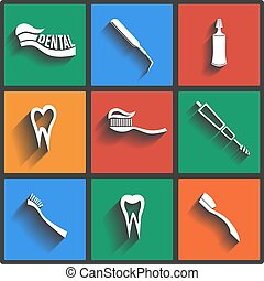 Vector Dental theme icons