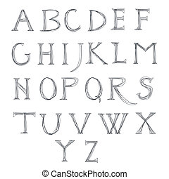 Vector design alphabet