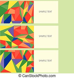Vector design banner background with abstract shapes