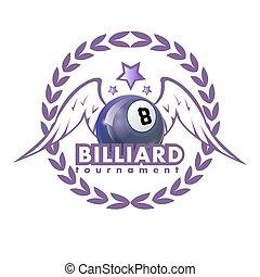 Vector Design Billiards, pool and snooker sport icon....