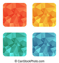 Vector design bright square wrinkled elements