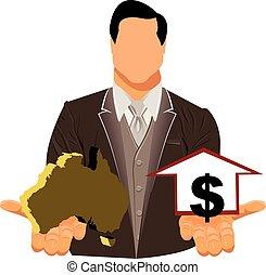 Vector design concept of businessman in suit