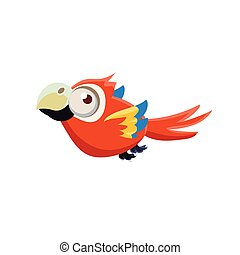 Cute Red Macaw Parrot
