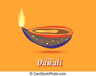 Vector design Diwali card.