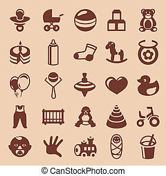 Vector design elements for children and kids - collection of...