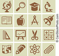 Vector design elements for school and university - collection of icons