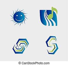 Vector design elements in different